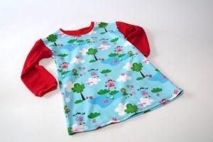 Kleid Langarm Teich Ärmel uni rot Verfügbare Größen: 98 (29,99€)