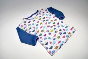 Oberteil langarm Stoff Oberteil: Jersey Schirme Stoff Ärmel: Jersey Uni blau Bündchen: blau Verfügbar in allen Größen