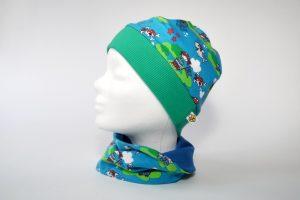Mütze+Loop Seeräuber blau