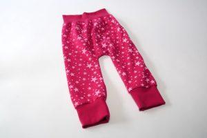 Pumphose Sweat Sterne pink vorne