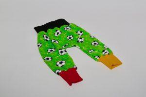 Pumphose Stoff Pumphose: Jersey Fussball grün Bündchen: schwarz/rot/gelb Verfügbar in allen Größen