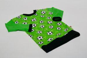 Oberteil langarm Stoff Oberteil: Jersey Fußball grün Stoff Ärmel: Jersey uni grün Bündchen: schwarz Verfügbar in allen Größen