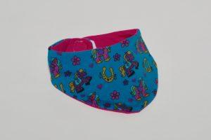 Halstuch Stoff Vorderseite: Jersey Filly Stoff Rückseite: Jersey uni pink Klettverschluss