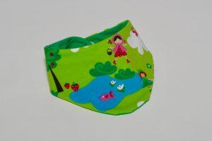 Halstuch Stoff Vorderseite: Jersey Teich grün Stoff Rückseite: Jersey uni grün Klettverschluss