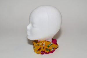Loop Stoff Vorderseite: Jersey Lollis gelb Stoff Rückseite: Jersey uni pink