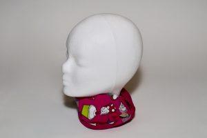 Loop Stoff Vorderseite: Jersey Muffins Stoff Rückseite: Jersey uni pink