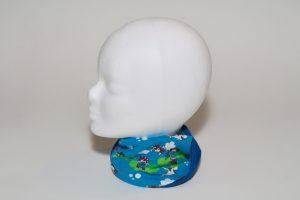 Loop Stoff Vorderseite: Jersey Seeräuber blau Stoff Rückseite: Jersey uni blau